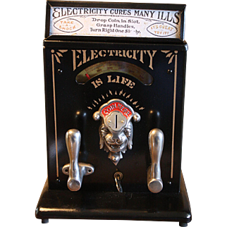 """Mills Firefly """"Electricity Is Life"""" Arcade Electric Shock Machine"""
