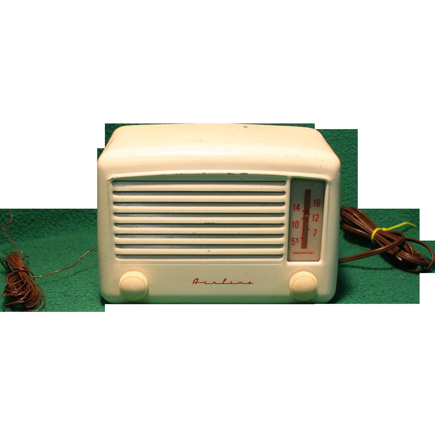 RCA Montgomery Ward Airline Radio 84KR1520B  Needs Repair