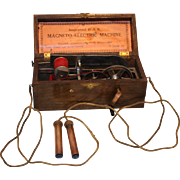 Antique Doctor's Medical Magneto-Electric Shock Machine  1880's- 1900