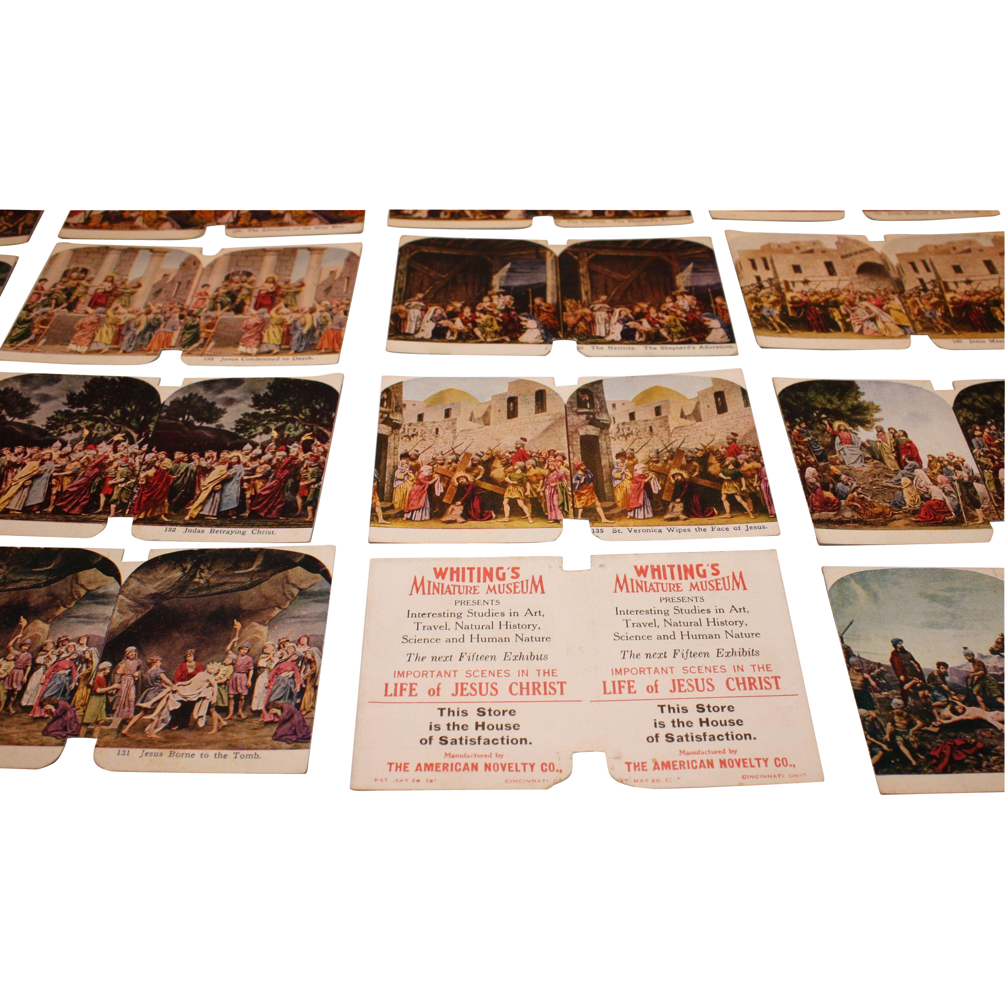 Whiting's Sculptoscope Cards Jesus Christ Set of 25 Cards
