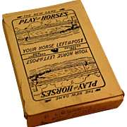 """Play The Horses"" Horse Race Card Game 1928 Oliver Co. Bookie Game"