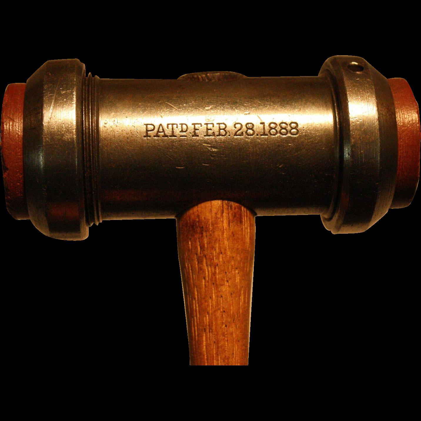 Unique Interchangeable Peen Jewelers Hammer 1888