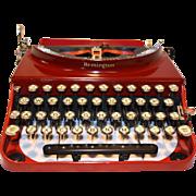 Remington Portable #3 Typewriter - 1930  Two-tone Red