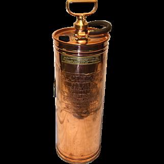 Vintage Phlare pump type Copper Fire Extinguisher Alaskan brand