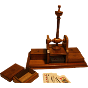 Mini Card Playing Card Press with Storage Boxes.