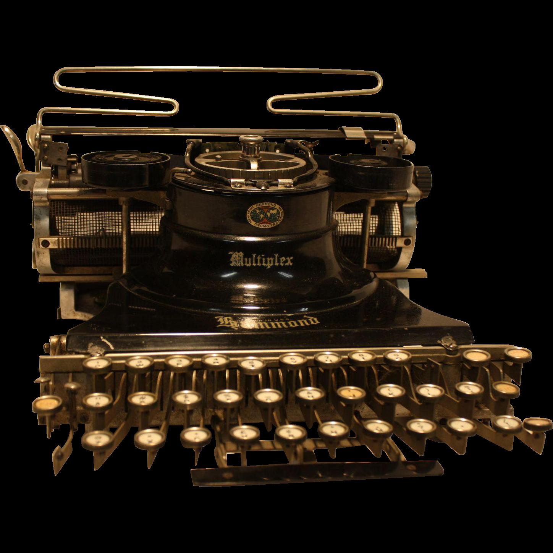 Hammond Multiplex  Universal Typewriter 1913