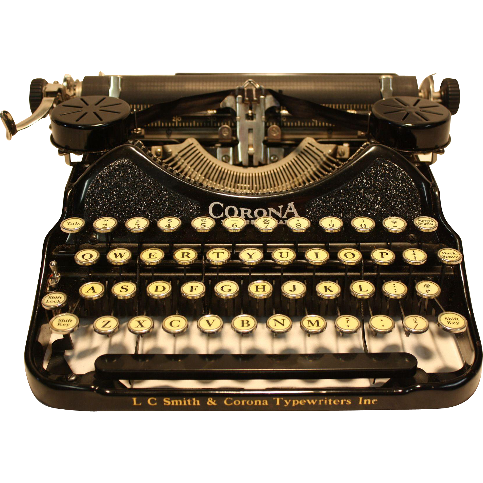 L.C. Smith Corona Model 4 Professional   Portable Typewriter 1920's