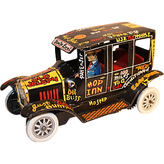 1950'S Marx Old Jalopy Tin Lithographed Wind Up Toy