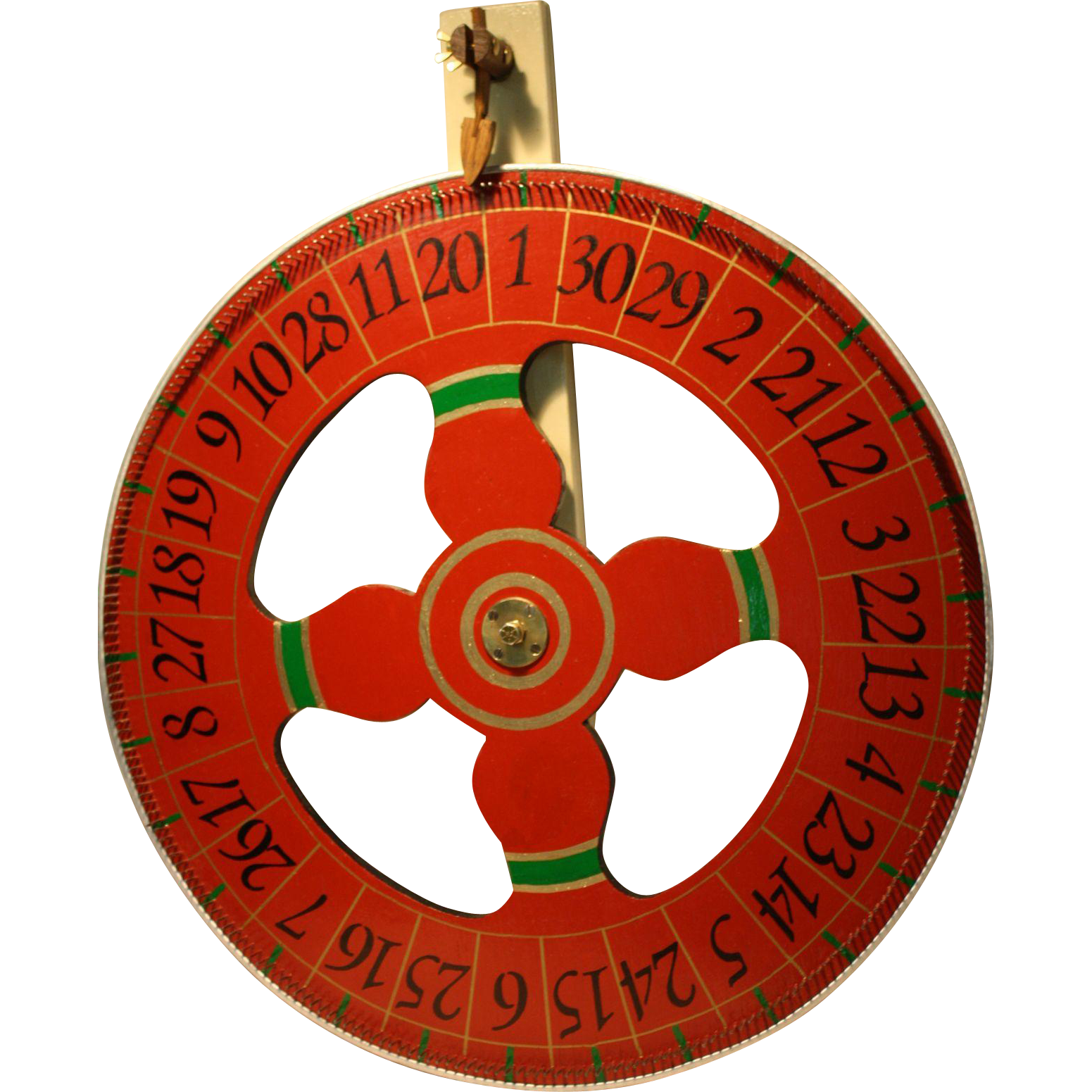 """Vintage Carnival Prize  Game Wheel  30""""  Excellent"""