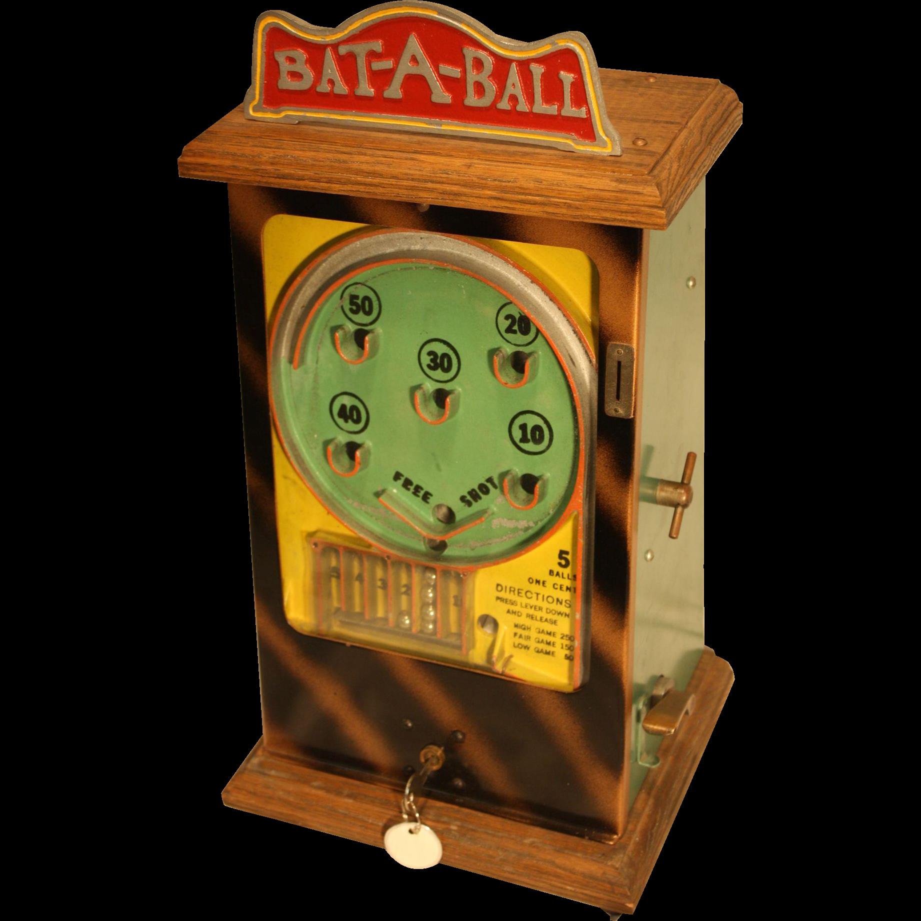 Peo Bat-A-Ball Counter-top Flip Ball Trade Stimulator 1930's