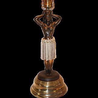 Original Dodge Co. Hula Girl Motion Lamp 1940's