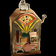 """One Cent  Jennings  """"Little Duke"""" Art Deco Slot Machine 1930's"""