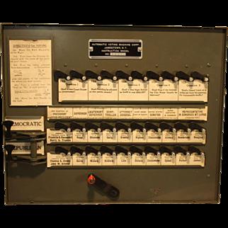 Instructional Voting Machine 1944 Franklin D. Roosevelt  Thomas E. Dewey Election