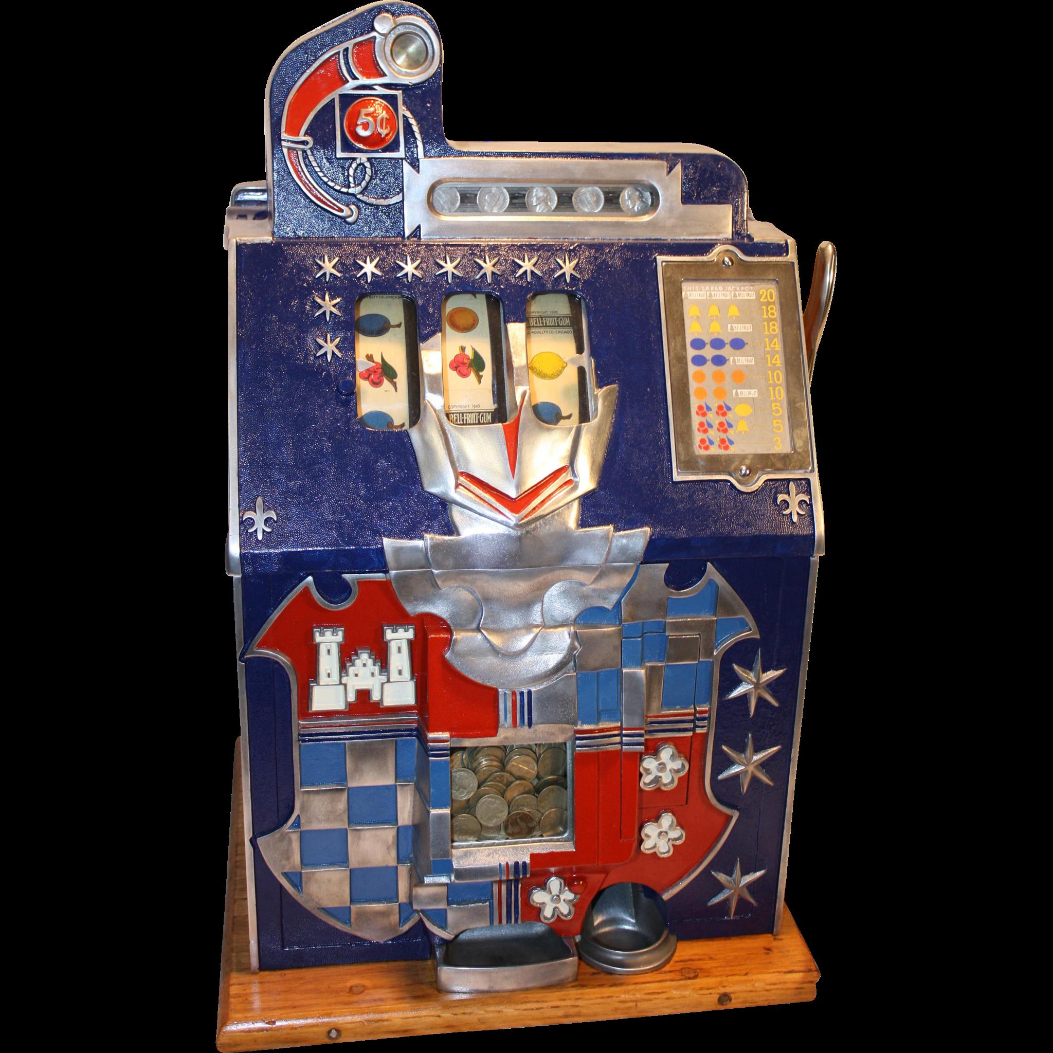 Mills  5¢  Castle Front Slot Machine  Excellent  1930's
