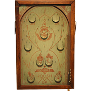 Vintage Bagatelle Pinball Game 1933   Poosh-M-Up