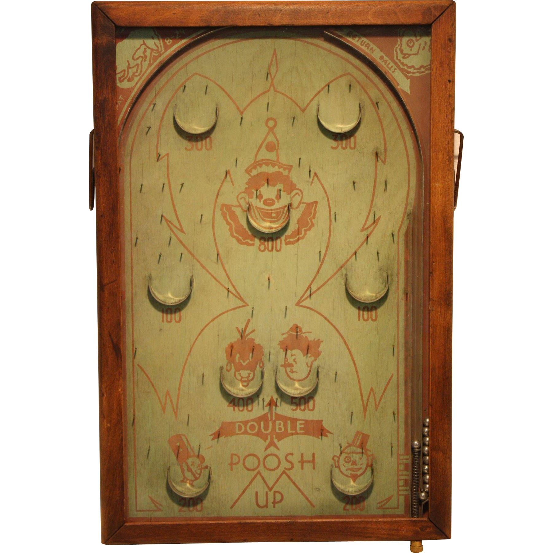 Vintage Bagatelle Pinball Game 1933   Poosh-M-Up