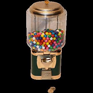 Silent Salesman Gumball Machine with Gumballs 25 cent