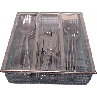 Vintage Childs Silverware in Tray Germany