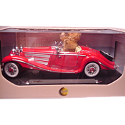 Steiff Teddy Bear in Mercedes Roadster Made for Steiff Club