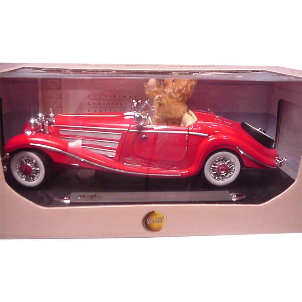 Steiff teddy bear in mercedes roadster made for steiff for Mercedes benz bear