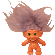 Vintage Scandia House Troll with Green Spiral Eyes