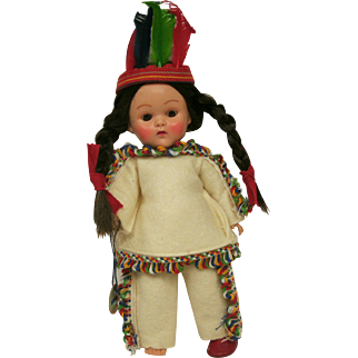 Vogue Ginny Frolicking Fables Indian Doll with original Hang Tag