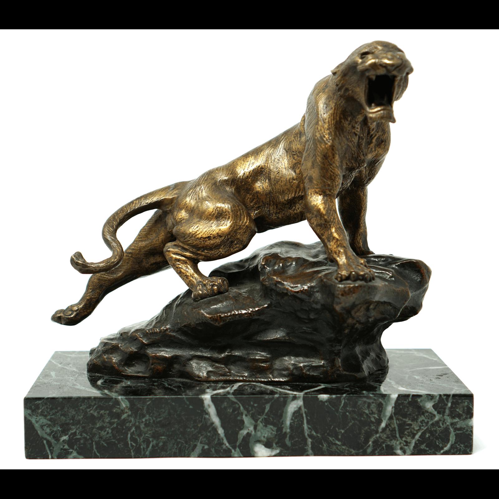 French Thomas Francois Cartier Le Fauve Bronze Statue
