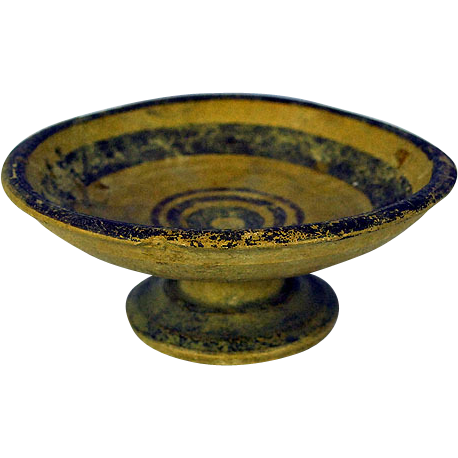 Antique Ancient Greece Apulia South of Italy Daunian Pedestal Bowl