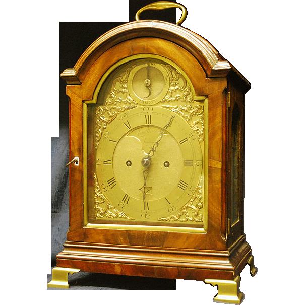 George the Third Mahogany Bracket Clock by James Wild London