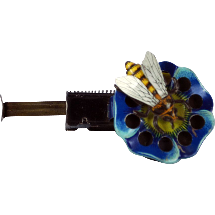 Arnold Germany 1950 Sparkling Bee on a Flower Wind Up Toy