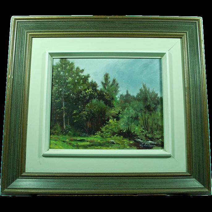 Canadian Marcel Favreau Painting L'Oree Du Bois, St Calixte 84