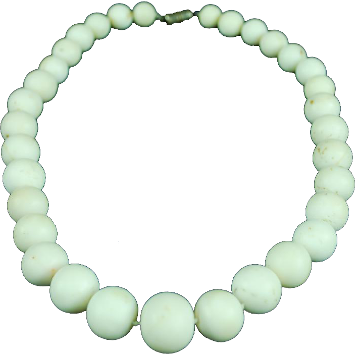Antique Huge Creamy White Natural Angel Skin Coral necklace