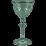 Georgian Baluster Goblet Champagne Wine Glass  c.1720
