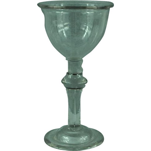 Georgian Baluster Goblet Champagne Wine Glass  c.1720