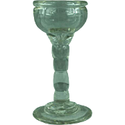 Antique late 17th century English Baluster goblet glass skinner label