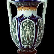 Doulton Lambeth Double Handled 1879 Signed Vase