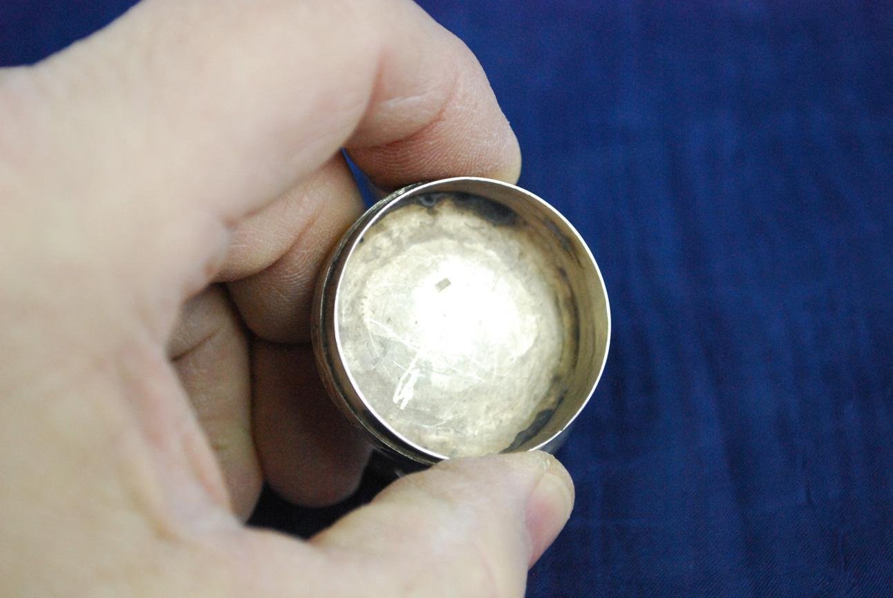 Sterling silver pill box Nefertiti design from ...