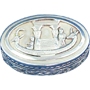 Sterling silver pill box Pharaoh boat design