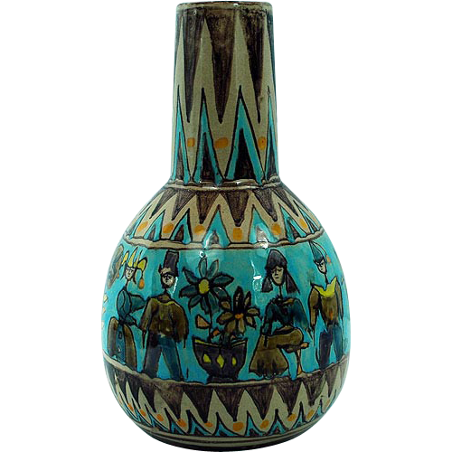 Large Elio Schiavon Italia Art Pottery Vase