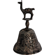 Sterling Silver from Peru Llama Bell c. 1950