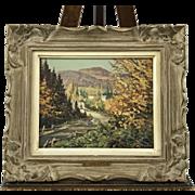 Joseph Giunta Canada painting 1911-2001 Autumn in the Laurentians, Quebec.