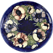 William Moorcroft England large 12 inch poppies bowl