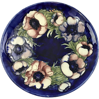 William Moorcroft England large 12 inch poppies bowl