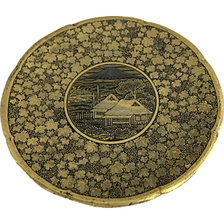 Japanese komai Otojiro plate Meiji Period Dragonfly mark