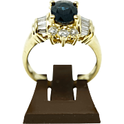 Solid yellow gold 18 karat ladies ring