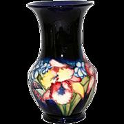 "Moorcroft England 10"" Orchid Vase"