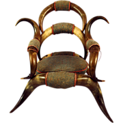 Rare Texan 19th Century Child Steer Horn Chair