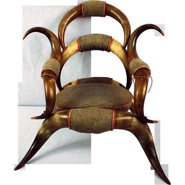 Rare texan 19th century child steer horn chair from rare texan 19th century child steer horn chair sciox Choice Image