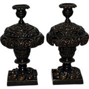 Antique Bronze 19th Century Candlesticks