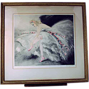 Original Louis Icart Fair Dancer 1939 Etching